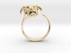 Truffles the Dog in 14K Yellow Gold