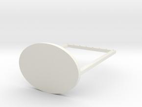 For Earrings 2 in White Natural Versatile Plastic