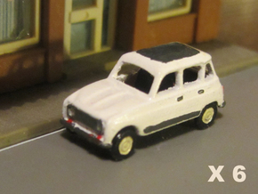Renault 4 Hatchback 1:160 scale (Lot of 6 cars) in Frosted Ultra Detail