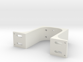 Arm Mount Offcentered in White Natural Versatile Plastic