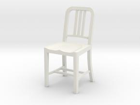 1:24 Metal Chair in White Natural Versatile Plastic