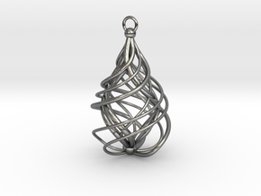 Sabella Swirl Necklace in Polished Silver