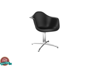 Miniature Eames DAL Chair - Charles Eames in White Natural Versatile Plastic