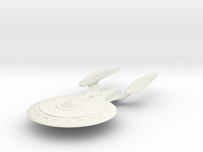 Essex Class  BattleCruiser in White Natural Versatile Plastic