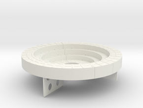 Vosper Twin Oerlikon Pedestal 1/32 Scale in White Natural Versatile Plastic