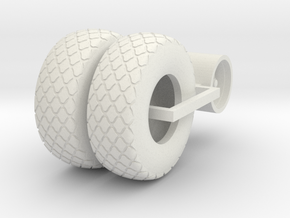 1/64 24.5-32 Diamond Tire And Wheel Assy in White Natural Versatile Plastic