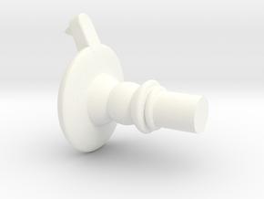 FO Tie Pilot Side Screw in White Processed Versatile Plastic