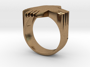 Writers' Ring  in Natural Brass: 9 / 59