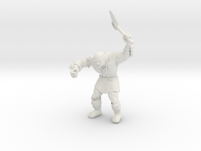 Orc WARRIOR Probe in White Natural Versatile Plastic: Medium