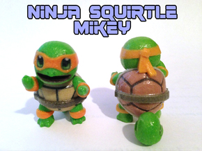 Ninja Squirtle, Mikey in Glossy Full Color Sandstone