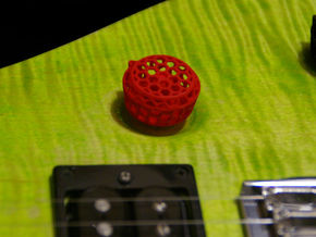 Grip-Switch v1 Guitar Knob in Red Processed Versatile Plastic