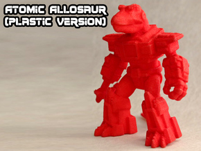 Atomic Allosaur in Red Processed Versatile Plastic