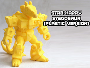 Stab-Happy Stegosaur in Yellow Processed Versatile Plastic