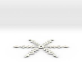 Snowflake Ornament in White Natural Versatile Plastic
