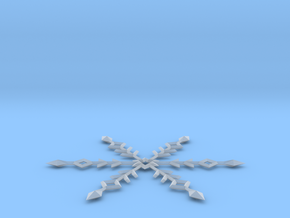 Snowflake Ornament in Smooth Fine Detail Plastic