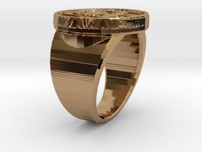 KravRing in Polished Brass