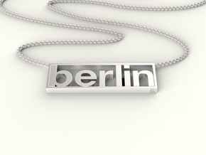 Typeberlin Berlin Pendant in Fine Detail Polished Silver