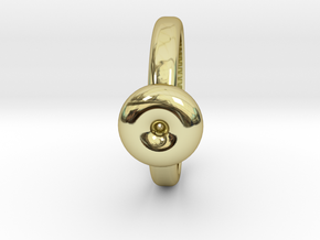 Torus Ring in 18k Gold Plated Brass: 6 / 51.5
