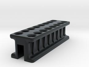 8-Tube PCR Strip Magnetic Concentrator Stand V1 in Black Hi-Def Acrylate