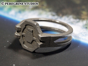 Ring - Seal of the Didact (Size 13) in Polished Bronzed Silver Steel