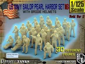 1-125 US Navy Pearl Harbor Set 16 in Smooth Fine Detail Plastic