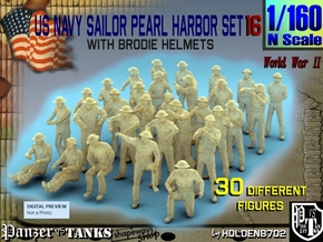 1-160 US Navy Pearl Harbor Set 16 in Smoothest Fine Detail Plastic