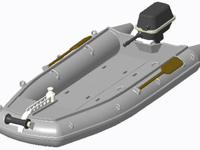 Schlauchboot 1:40 in Smooth Fine Detail Plastic
