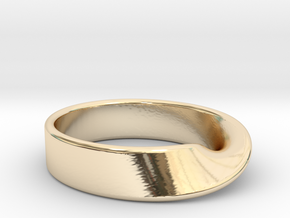Moebius Strip ring in 14k Gold Plated Brass: 7 / 54