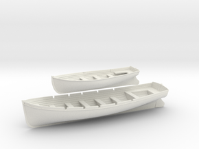 1/32 DKM 8m & 6m Long Boats Set in White Natural Versatile Plastic