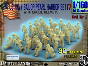 1-160 US Navy Pearl Harbor Set 17 in Smoothest Fine Detail Plastic