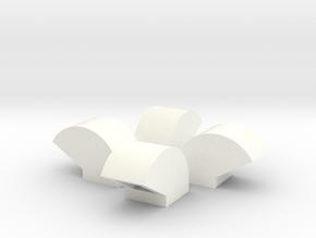 1/64 Bin Vent 12inch in White Processed Versatile Plastic
