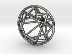 Diamond Wire Pendant in Premium Silver
