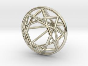 Diamond Wire Pendant in 14k White Gold