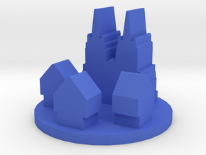 Game Piece, City Cathedral in Blue Processed Versatile Plastic