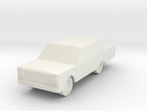 Generic Automobile in White Natural Versatile Plastic
