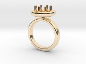 Ring Iris in 14k Gold Plated Brass: 5.5 / 50.25