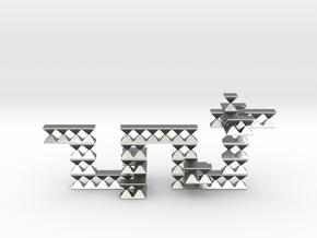 Dragon Pendant Sculptural. Unisex in Natural Silver