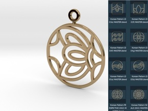 Korean Earring Freedom Pattern in Polished Brass