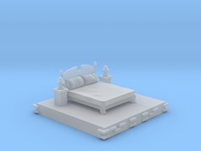 Bedroom decoration miniature in Smooth Fine Detail Plastic: Small