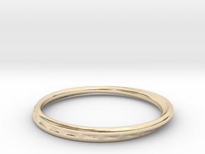 Ring Mobius facet in 14K Yellow Gold: 8.75 / 58.375