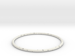 "Bracelet ""Spiral"" in White Natural Versatile Plastic: Small"