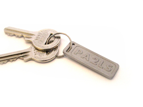 Keychain your callsign or name - Aluminium in Aluminum
