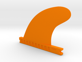 TinyFins Sweep 4,5 fu in Orange Processed Versatile Plastic