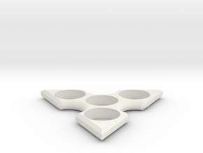Tri Spinner in White Natural Versatile Plastic