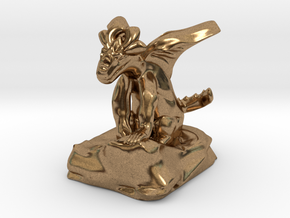 Large Pseudodragon companion - 31 mm in Natural Brass