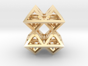 88 Pendant. Perfect Pyramid Structure. in 14K Yellow Gold