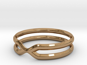 Double Ring in Polished Brass: 7.5 / 55.5