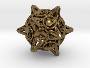 Crowns D20 in Polished Bronze