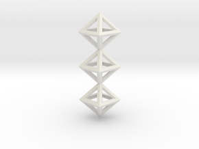 I Letter Pendant. Perfect Pyramid Structure. in White Natural Versatile Plastic
