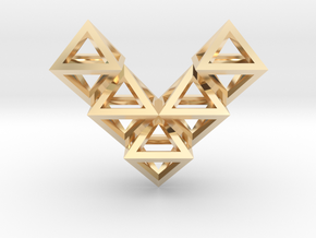 V10 Pendant. Perfect Pyramid Structure. in 14K Yellow Gold